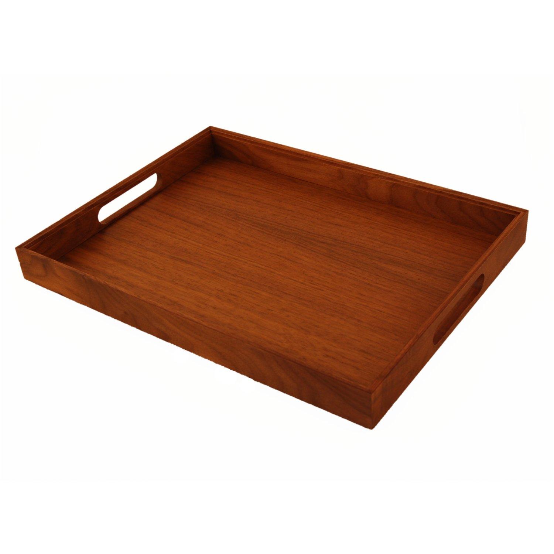 Holz Fichtner holztablett 40 cm x 30 cm aus edlem nussbaum holz fichtner aktenkoffer handtaschen und mehr