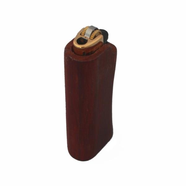 Wood lighter cover plum wood