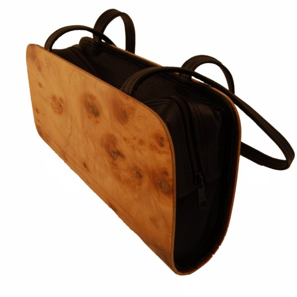 Holz-Fichtner Handtasche aus Haselnussholz