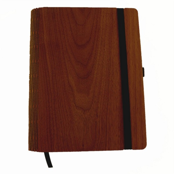 A5 Notebook with walnut wood binding