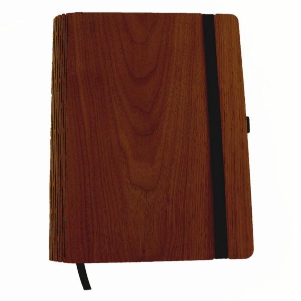 Notizbuch A5 mit Holzeinband Nussbaum
