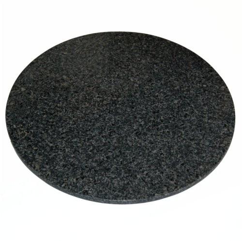 Granittablett rund, dunkel, 35cm