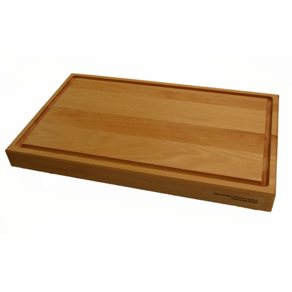 Holzschneidebrett Buche mit Saftrille