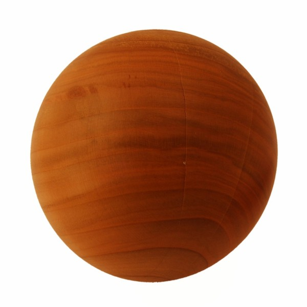 wooden ball for decoration made of cherry wood 14cm