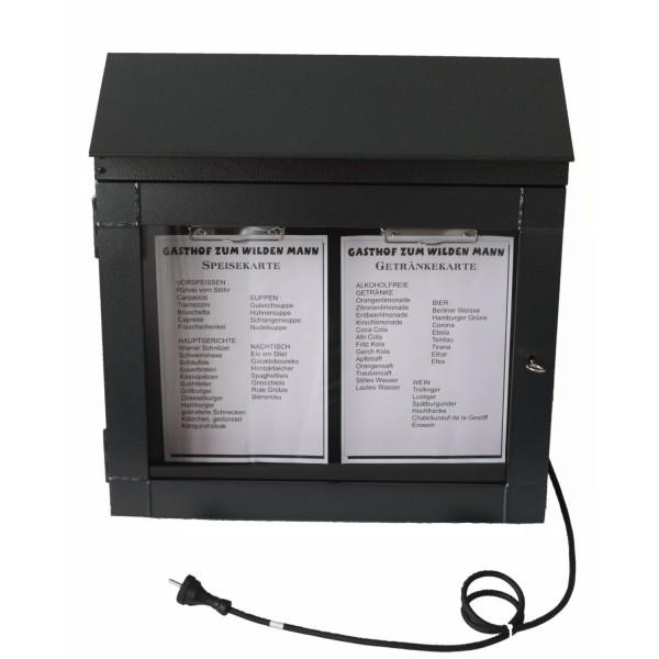 caja de menú noble con iluminación LED