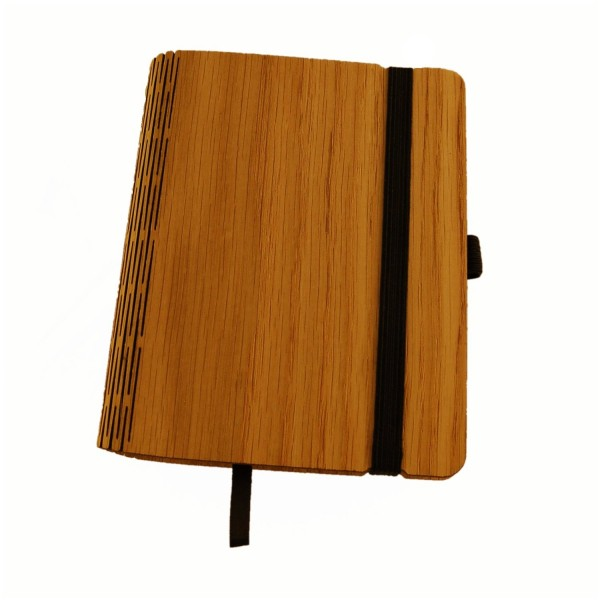 Notebook with oak cover