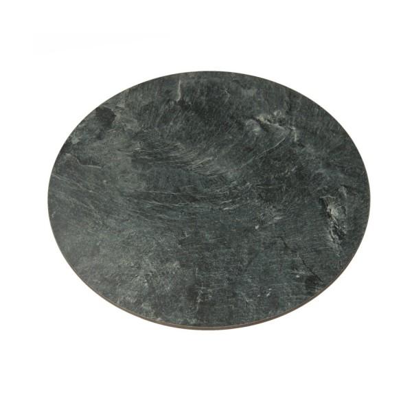assiette de buffet ronde à 30 cm de l'ardoise artificielle