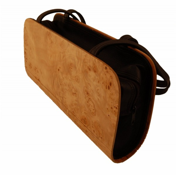 High quality wooden handbag made of poplar wood