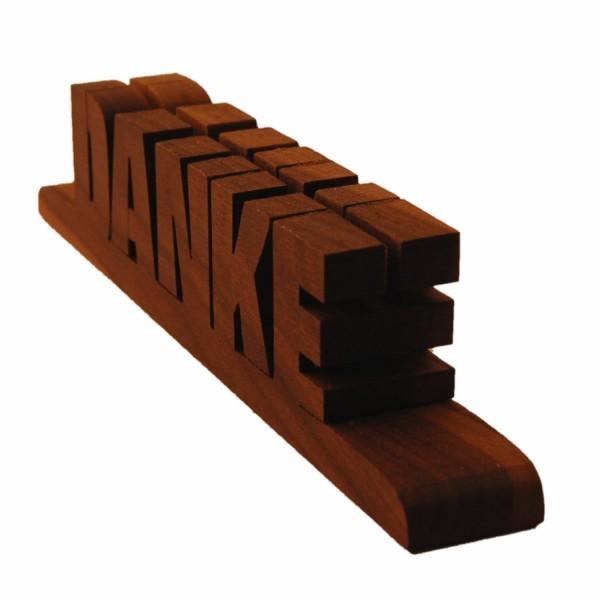 Holzschriftzug DANKE Nussholz