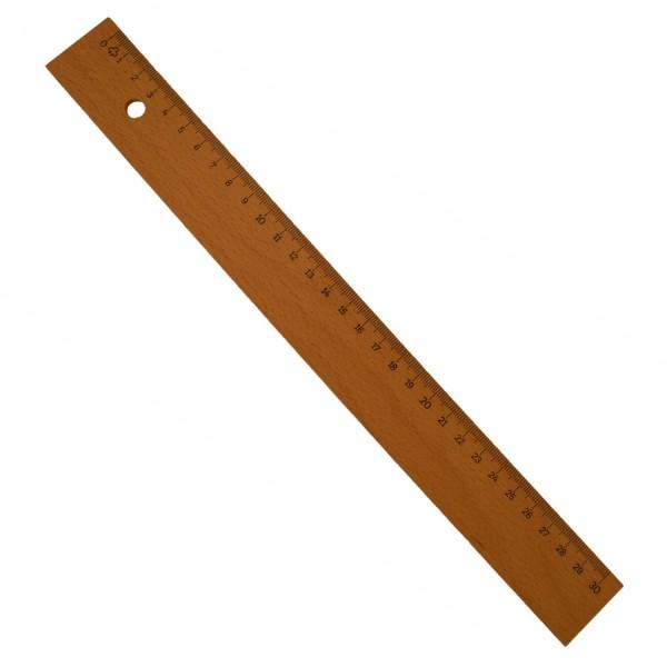 Holzlineal 30cm, Buchenholz
