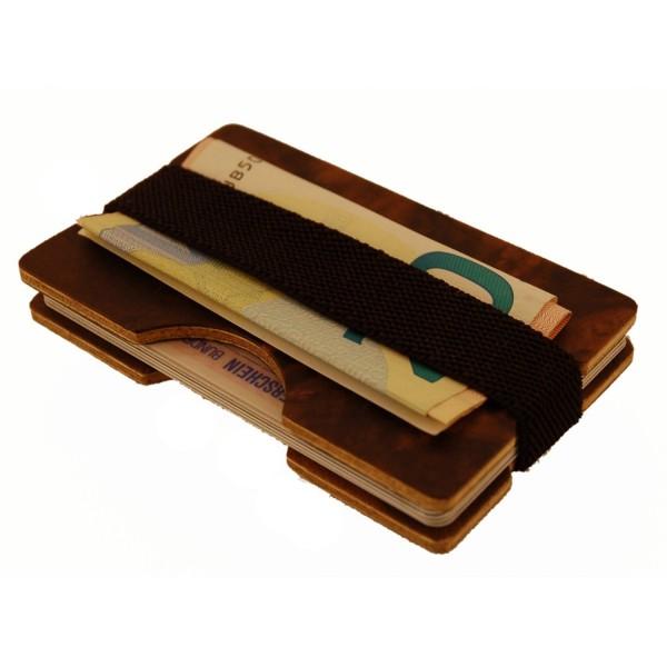 Mini-portefeuille in legno di noce