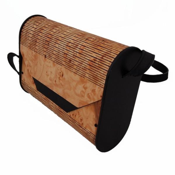 Ladies handbag made of wood
