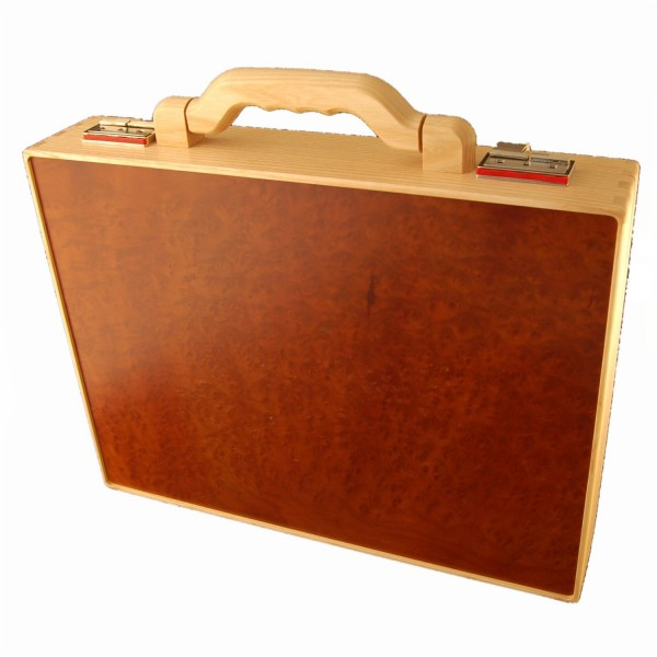 Wooden briefcase Ash and Vavona