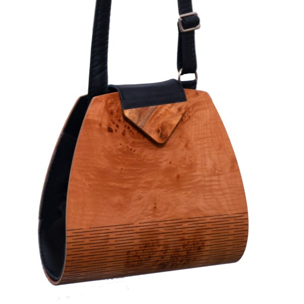 Handtasche aus Holz, Ahorn, made by Holz-Fichtner