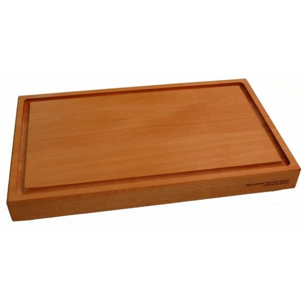 Tagliere in legno di faggio con scanalatura per il succo di frutta