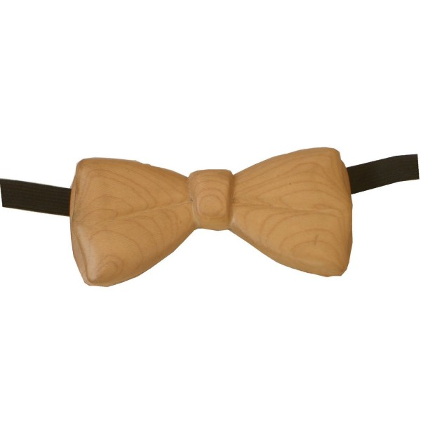 wooden bow tie, maple wood
