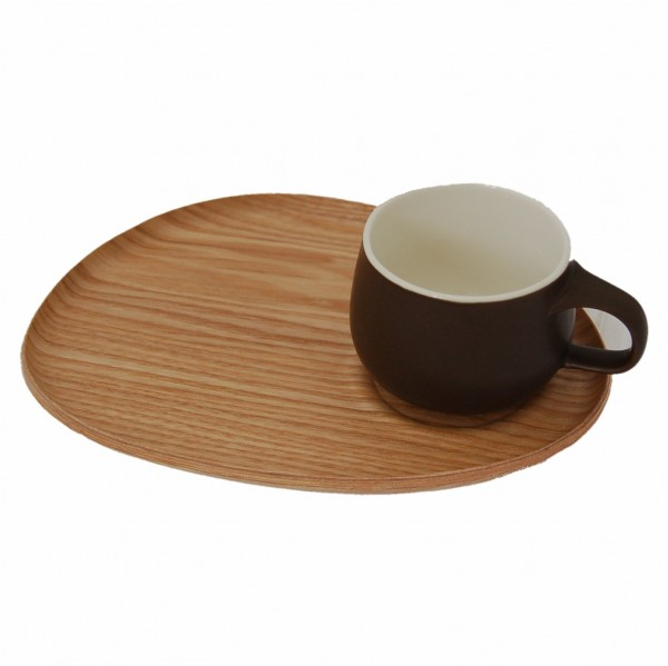 Holztablett mit Tasse