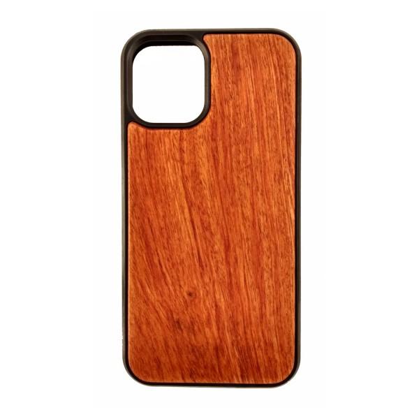 Housse de protection en bois et en plastique pour Iphone 12 mini