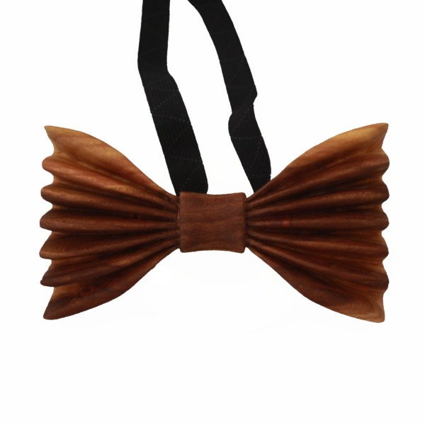 handcarved bowtie made from apricot wood