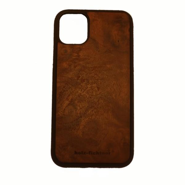 Holzcase IPhone11Pro Nusswurzelholz