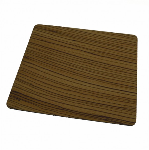 Wooden mouse pad zebrano wood veneer