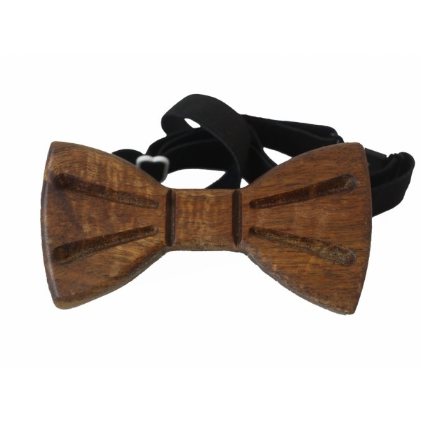 noble bow tie made of acacia wood