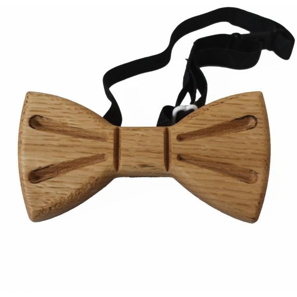handmade oak wood bow tie