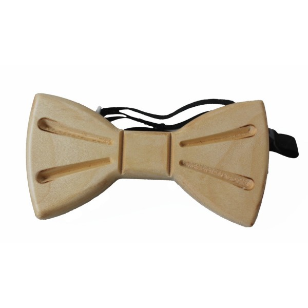fashionable bow tie maple wood