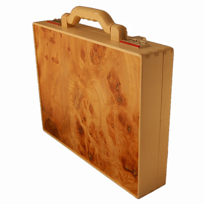 Holz Fichtner hochwertiger holzaktenkoffer aus haselnussholz holz fichtner aktenkoffer handtaschen und