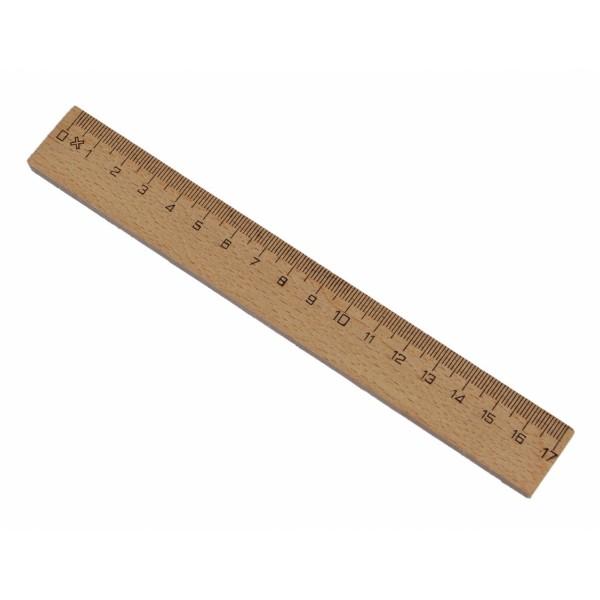 Holzlineal 17cm Buchenholz