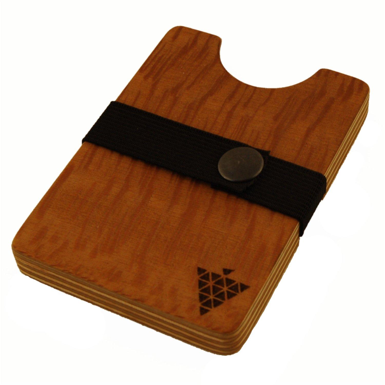 Holz Fichtner flacher kleiner dünner geldbeutel aus platane holz fichtner aktenkoffer handtaschen und mehr