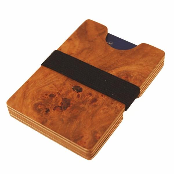 Mini-Portemonnaie, Holz