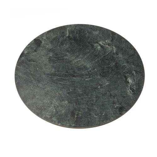 runde Belegplatte 40cm aus Kunstschiefer