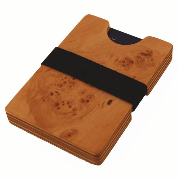Mini billetera de madera
