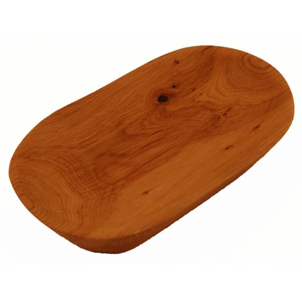 handgeschnitzte Eichenholzschüssel