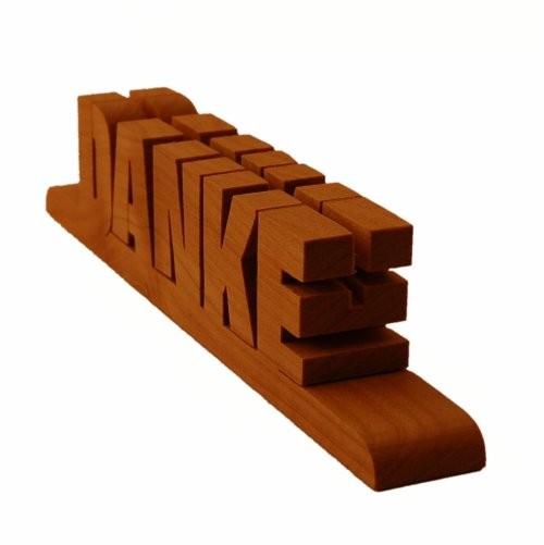 Holzschriftzug Kirschholz