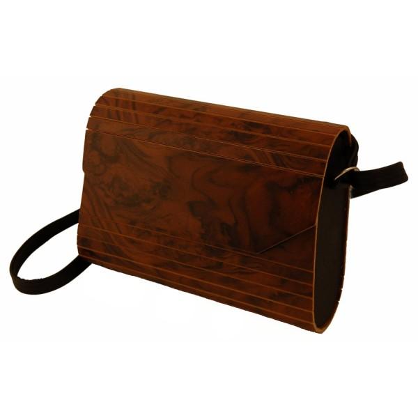 Holzhandtasche, Wurzelholz