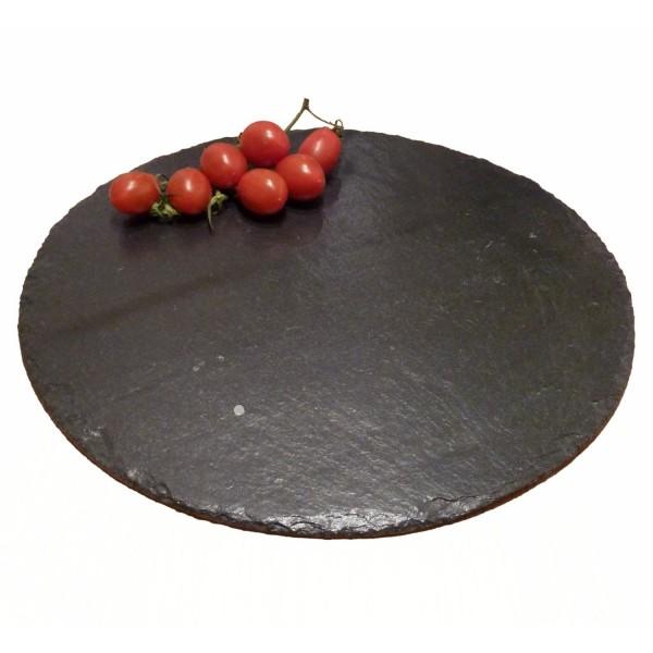 Placa de pizarra natural redonda de 40 cm