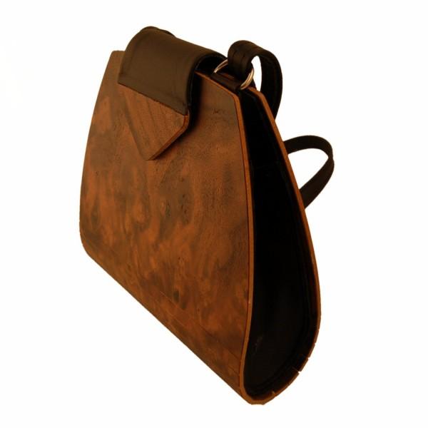Handtasche aus Holz, Nussbaumwurzelholz
