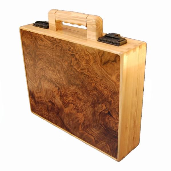 Maletín de madera nogal y fresno
