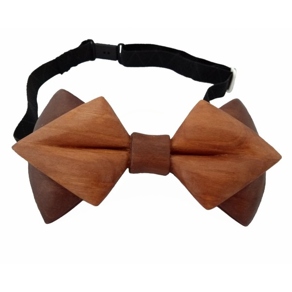 carved wooden bow tie maple wood