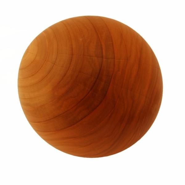 gedrechselte Holzkugel aus Kirschholz 14cm