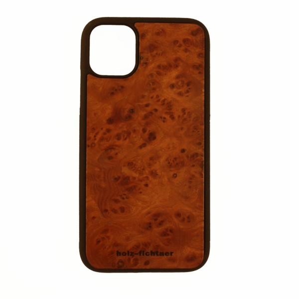Holzcase IPhone11Pro Rüstermaserholz