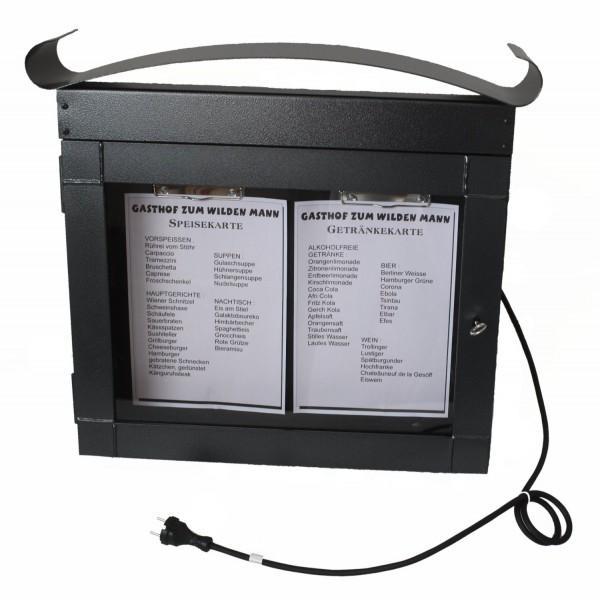 scatola del menu nera, bloccabile