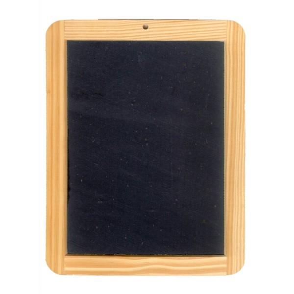 beschriftbare Schiefertafel mit Holzrahmen