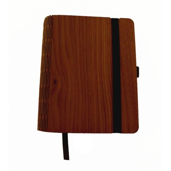 Holznotizbuch Nussbaum