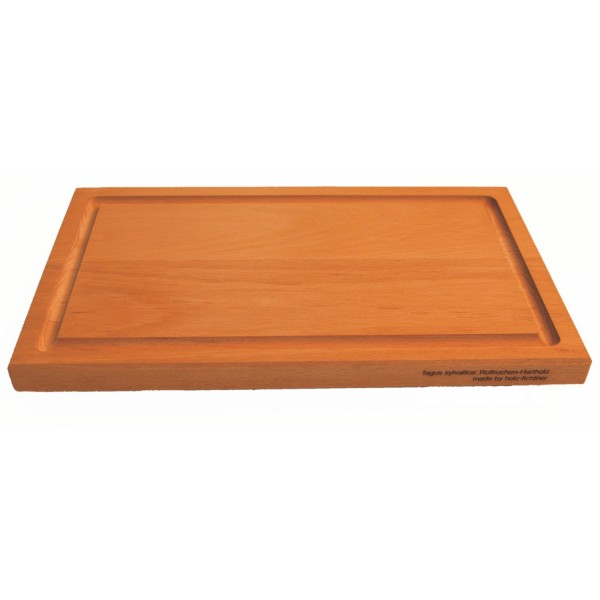 Sustainable and robust beech wood bread board 33x20x2cm