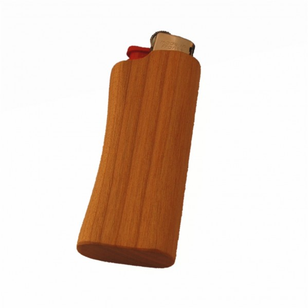 Cherry wood lighter with Mini-BIC