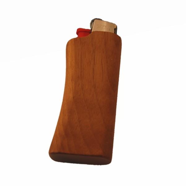 Un étui à briquet en bois de noix pour le Mini-BIC