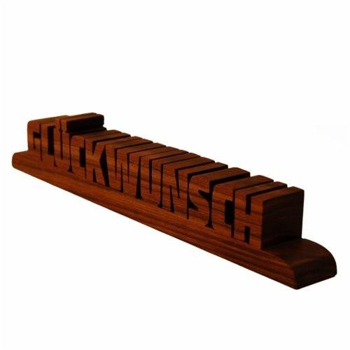 Holzschriftzug Nussholz